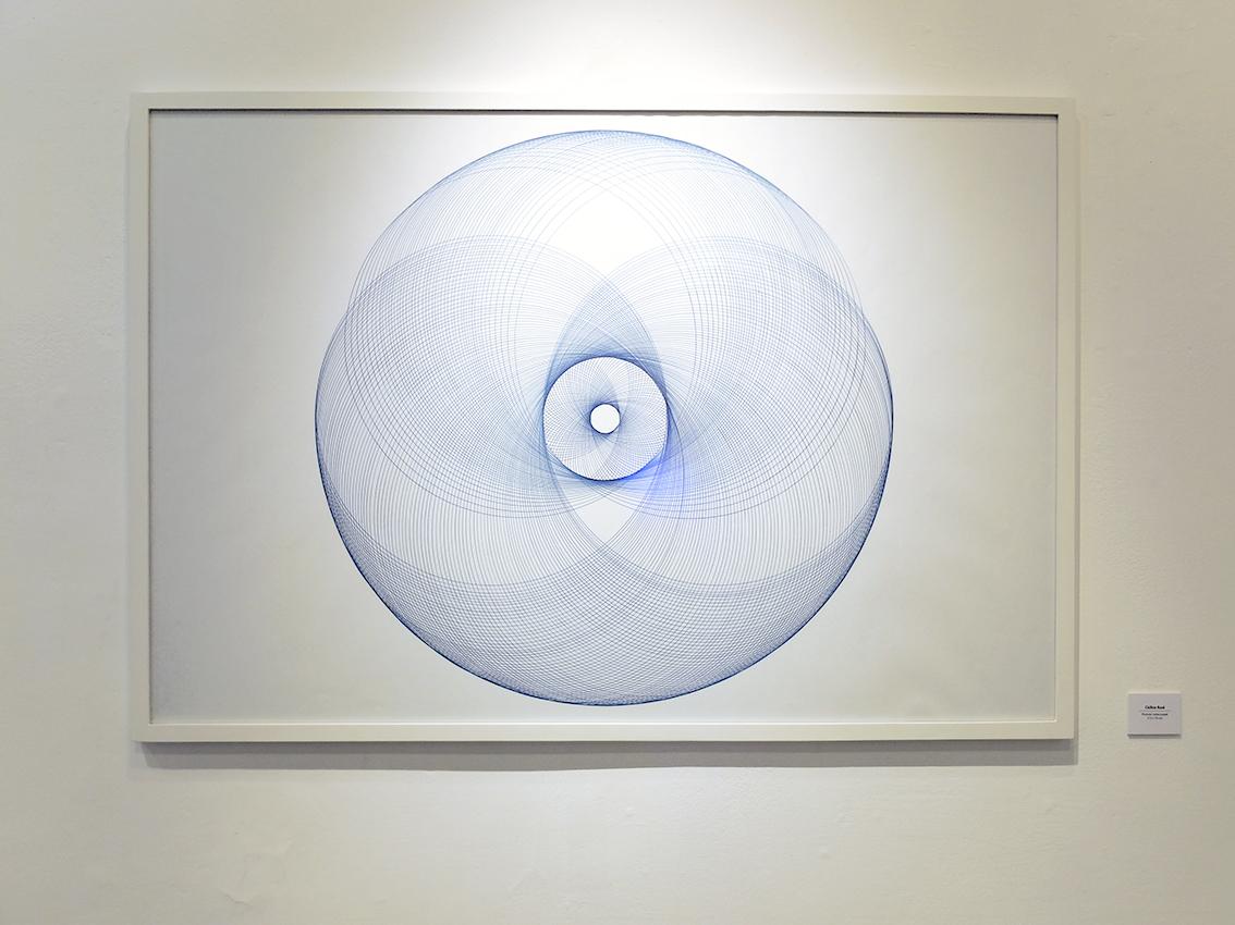 Forme cyclique bleu