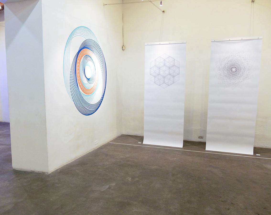 Pendant geometrie sacrée 1& 2 + Mural droit