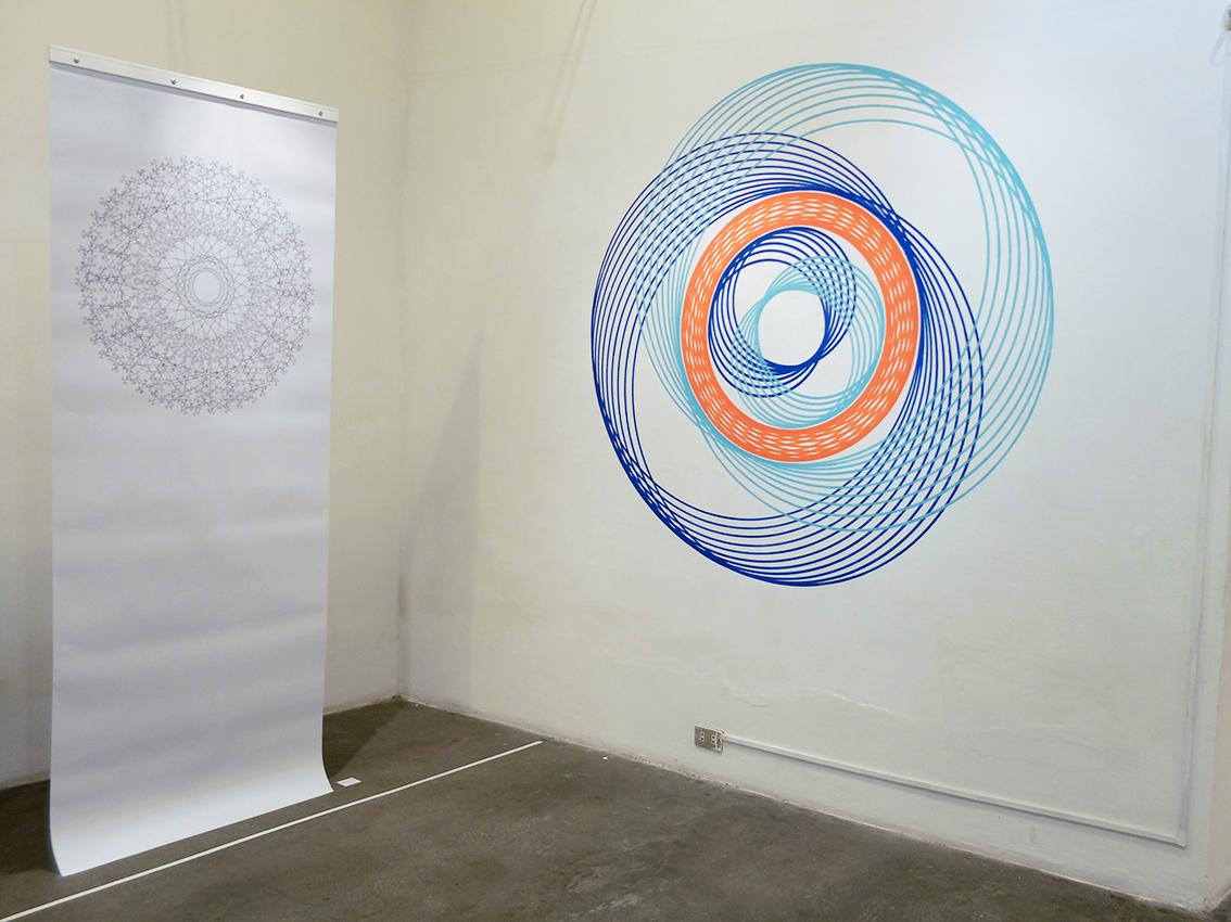 Pendant geometrie sacréee 4+Mural gauche